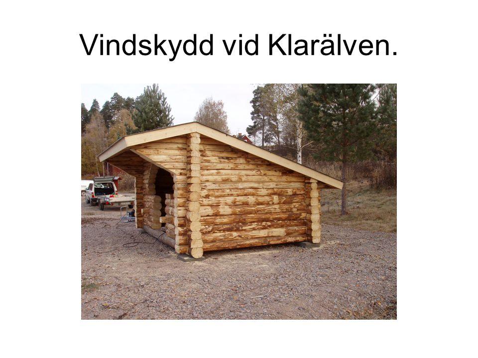 Vindskydd vid Klarälven.