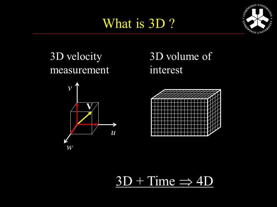 3D Doppler Ultrasound 3D region, but only one velocity component