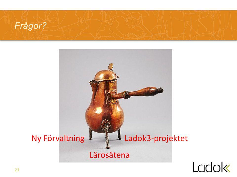 23 Frågor Lärosätena Ny FörvaltningLadok3-projektet