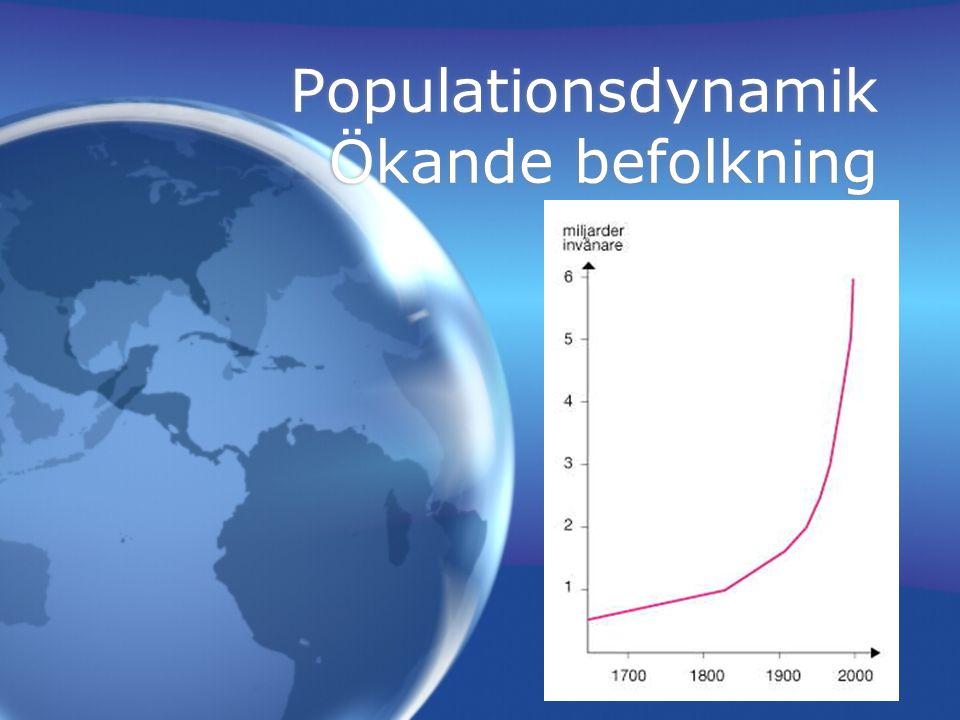 Ekologisk analys: Populatiosdynamik J-kurva S-kurva J-kurva S-kurva