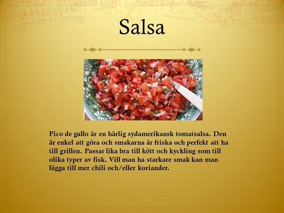 Salsa Pico de gallo är en härlig sydamerikansk tomatsalsa. Den är enkel att göra och smakarna är friska och perfekt att ha till grillen. Passar lika b
