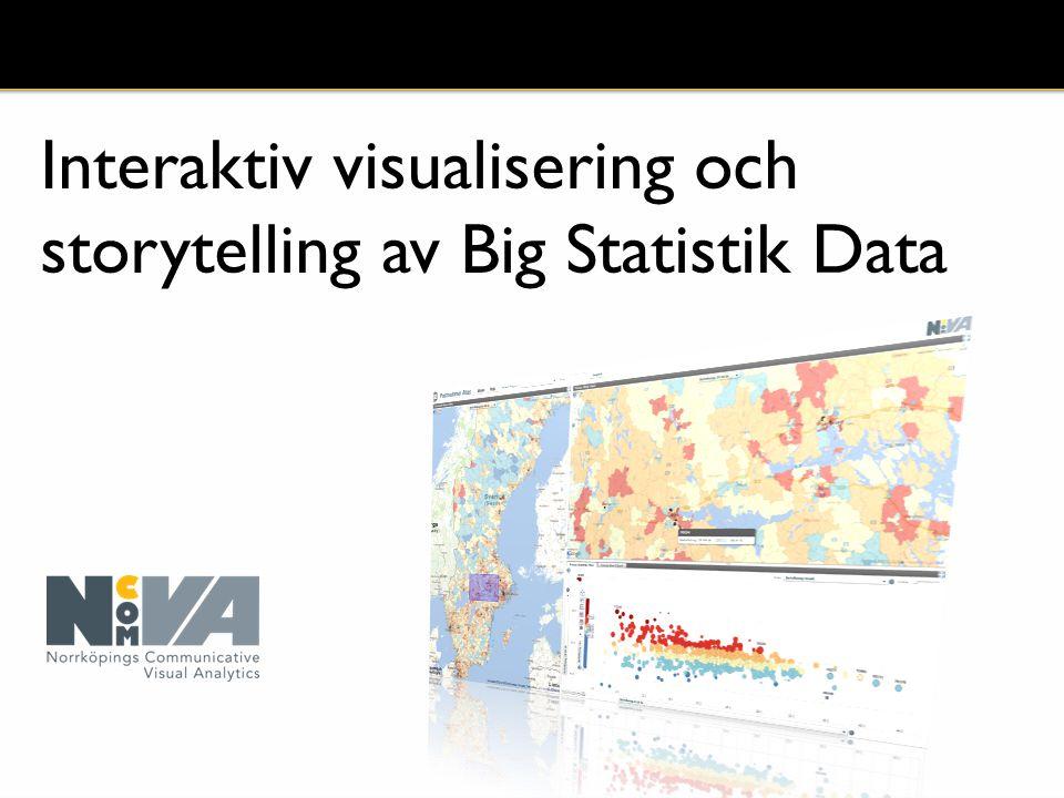 Interaktiv visualisering och storytelling av Big Statistik Data