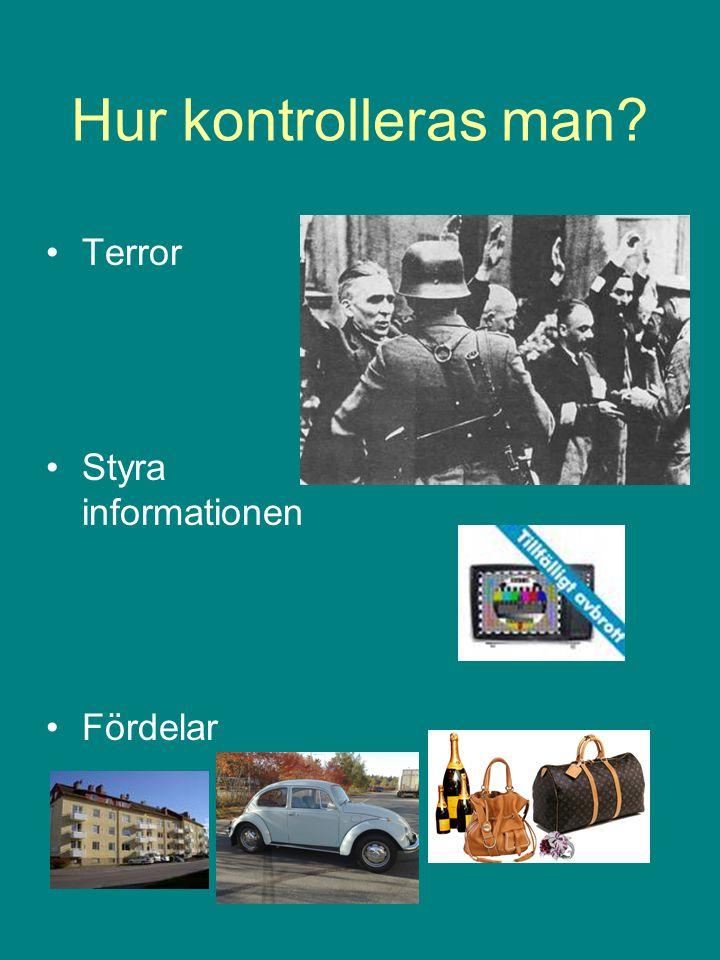 Hur kontrolleras man? Terror Styra informationen Fördelar