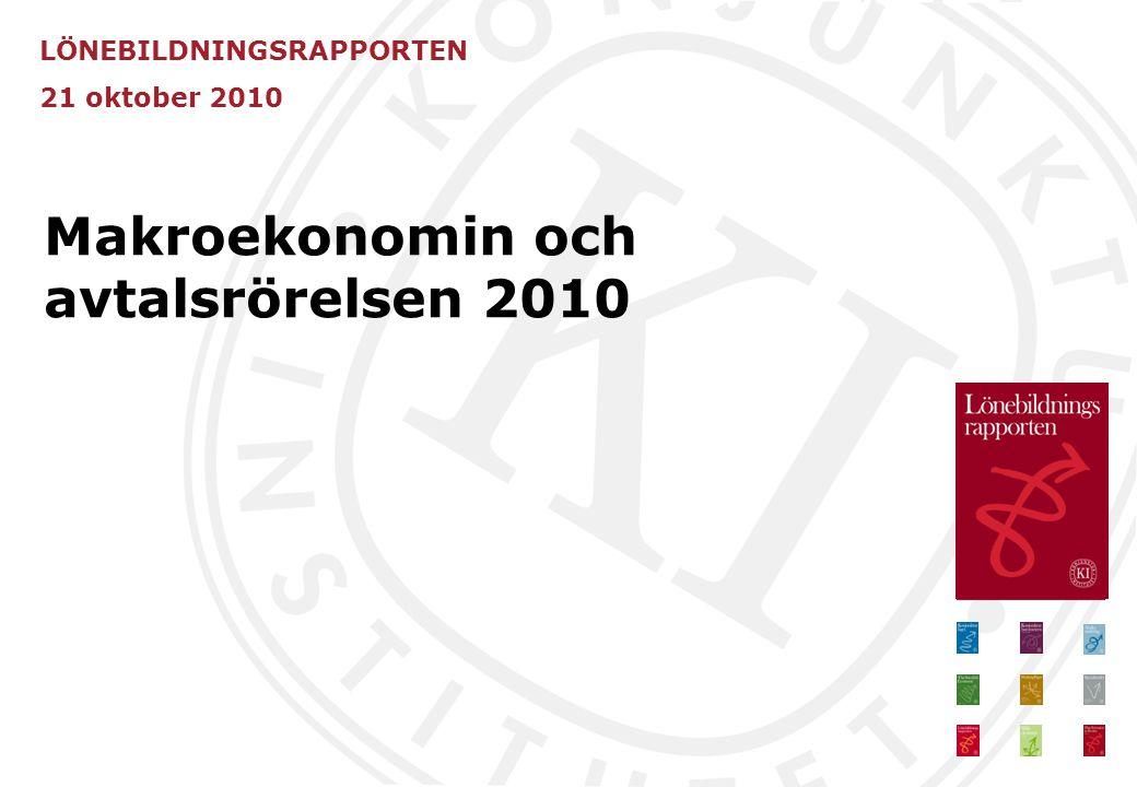 LÖNEBILDNINGSRAPPORTEN 21 oktober 2010 Makroekonomin och avtalsrörelsen 2010