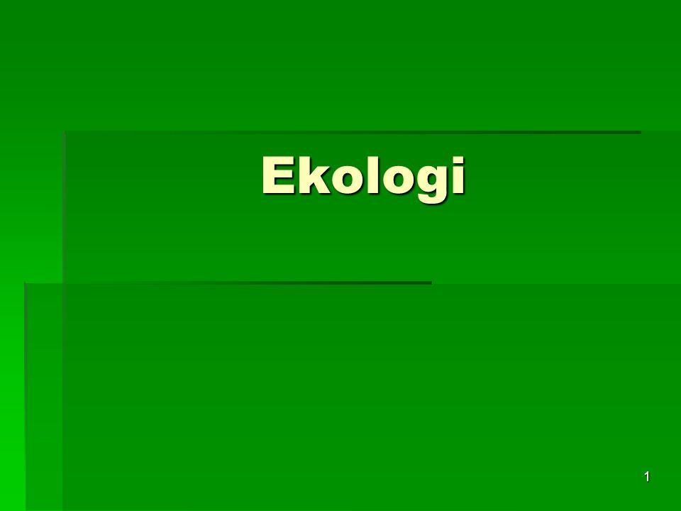 12 Ekologi - Miljö  Den levande miljön – Biotisk  Biotiska miljöfaktorer handlar om hur organismer påverkar andra levande organismer  Här pratar man t.ex.