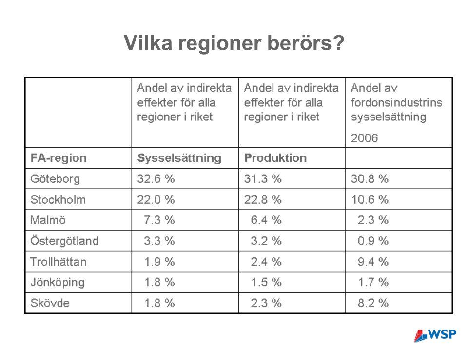 Vilka regioner berörs?