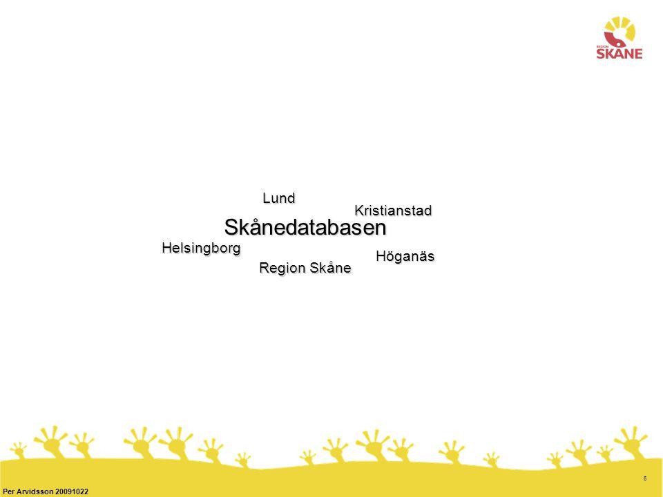 6 Skånedatabasen Region Skåne Helsingborg Kristianstad Lund Höganäs