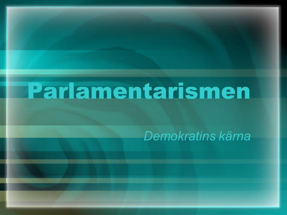 Parlamentarismen Demokratins kärna