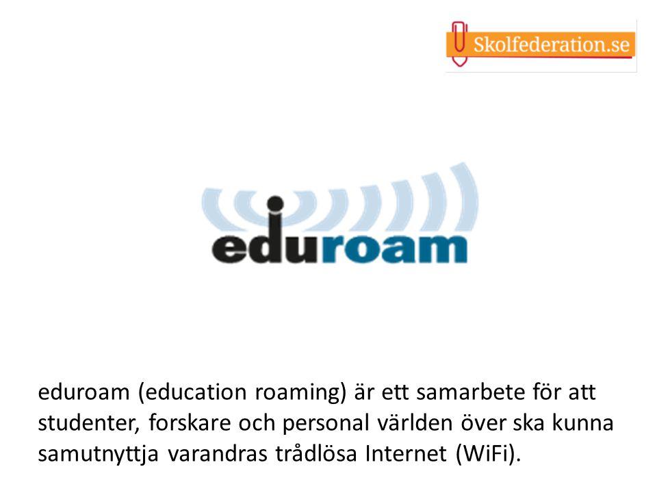 eduroam (education roaming) är ett samarbete för att studenter, forskare och personal världen över ska kunna samutnyttja varandras trådlösa Internet (