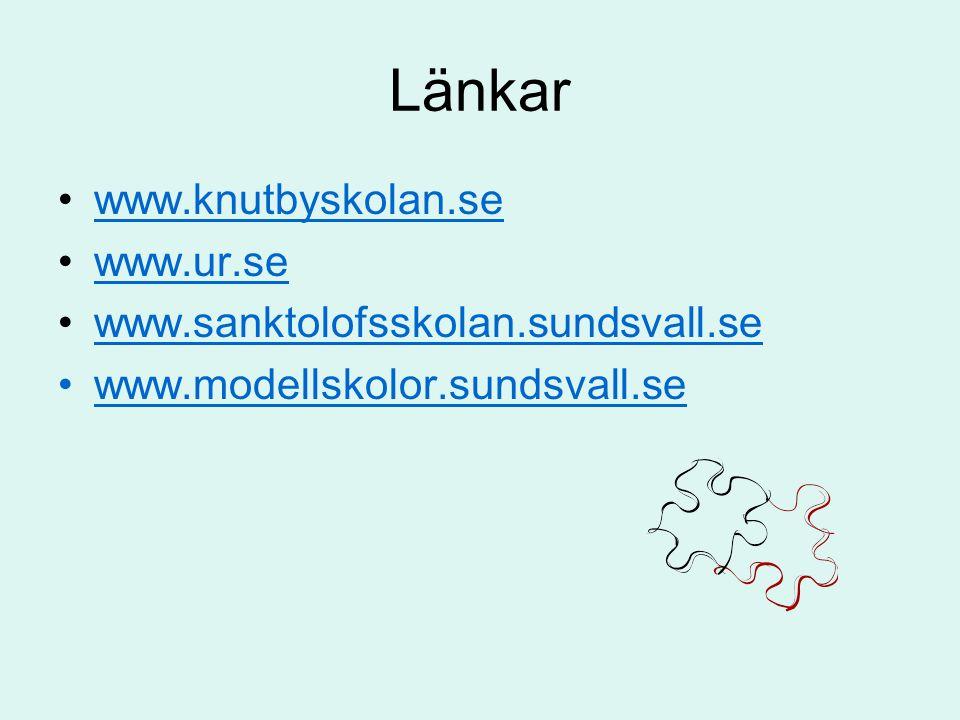 Länkar www.knutbyskolan.se www.ur.se www.sanktolofsskolan.sundsvall.se www.modellskolor.sundsvall.se