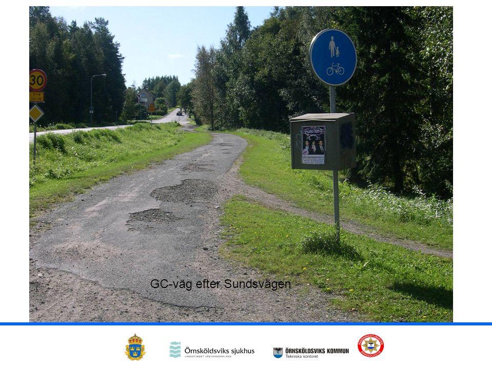 GC-väg efter Sundsvägen