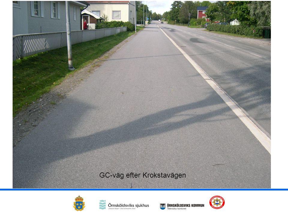 GC-väg efter Krokstavägen