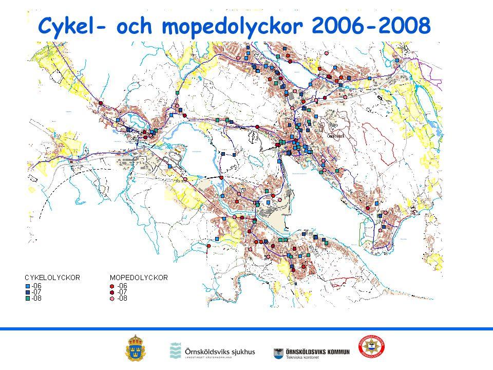 Cykel- och mopedolyckor 2006-2008
