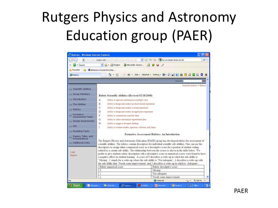Experimentella förmågor PAER Främsta förmågorna i den kvalitativa fasen är att observera, formulera modeller och beskriva med hjälp av figurer och det matematiska språket