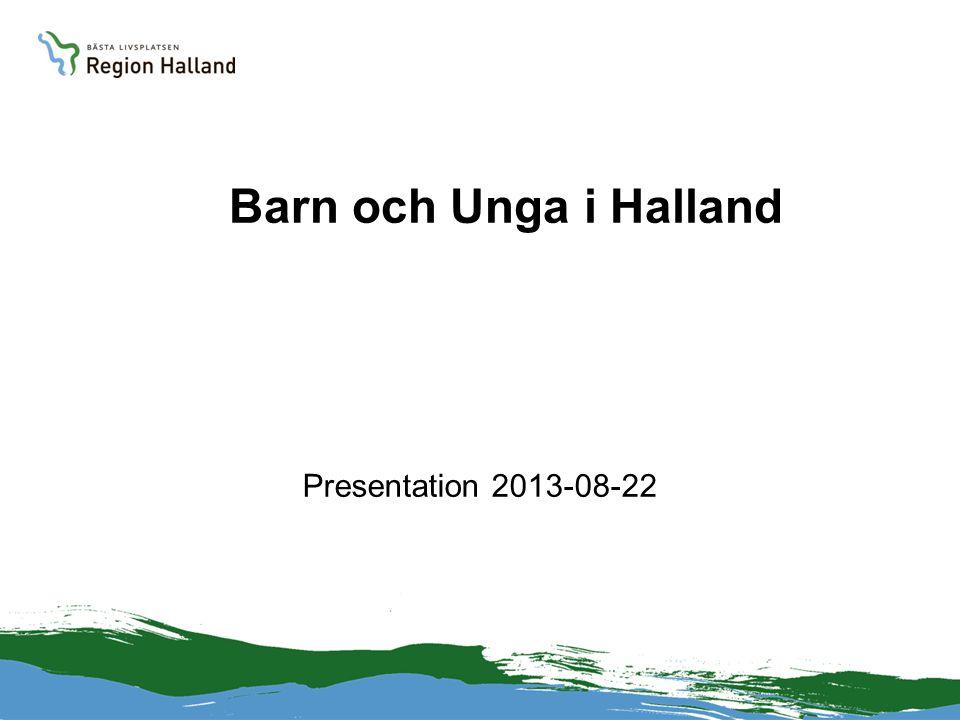Barn och Unga i Halland Presentation 2013-08-22