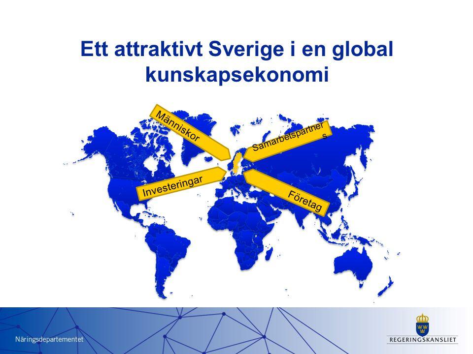 Ett attraktivt Sverige i en global kunskapsekonomi Människor Investeringar Företag Samarbetspartner s