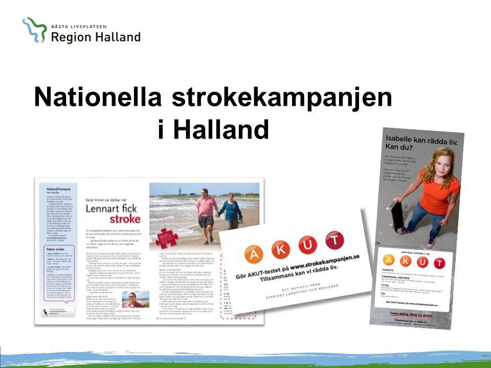 Nationella strokekampanjen i Halland