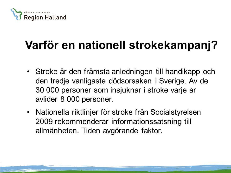 Kort om kampanjen Tre-årig nationell kampanj i samverkan mellan Sveriges landsting och regioner.