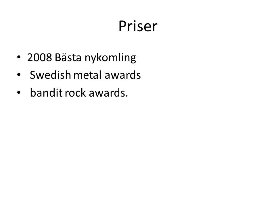 Priser 2008 Bästa nykomling Swedish metal awards bandit rock awards.