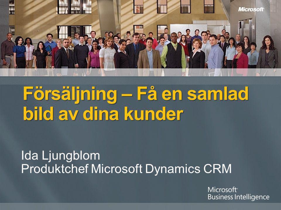 Ida Ljungblom Produktchef Microsoft Dynamics CRM