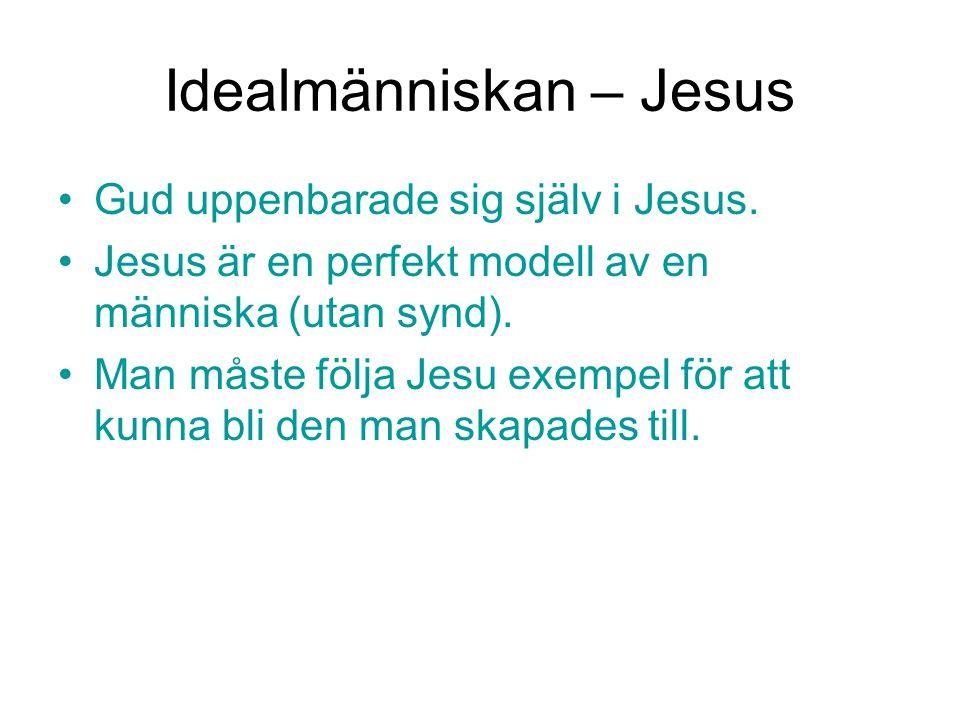 Idealmänniskan – Jesus Gud uppenbarade sig själv i Jesus. Jesus är en perfekt modell av en människa (utan synd). Man måste följa Jesu exempel för att