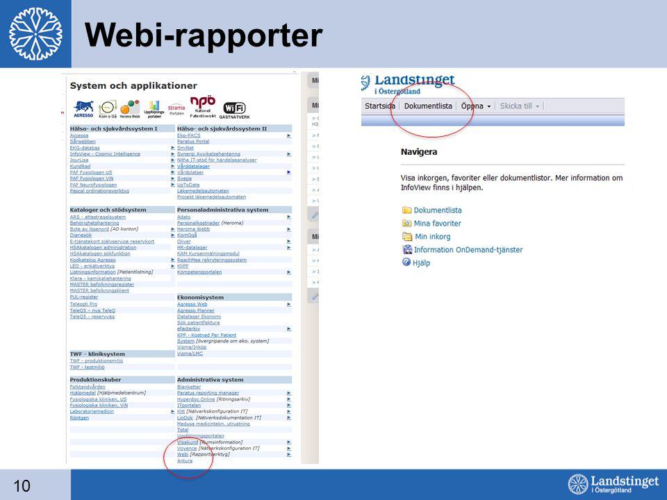 Webi-rapporter 10