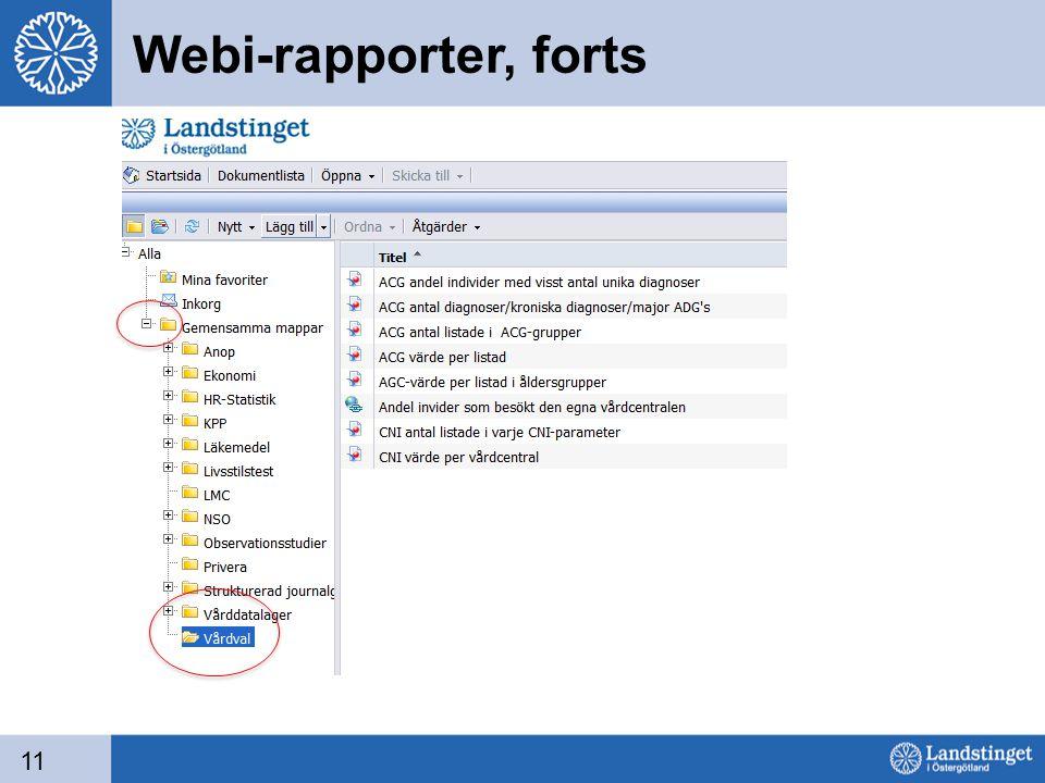 Webi-rapporter, forts 11