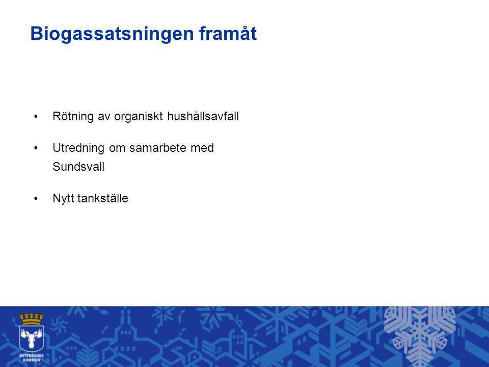 Rötning av organiskt hushållsavfall Utredning om samarbete med Sundsvall Nytt tankställe Biogassatsningen framåt