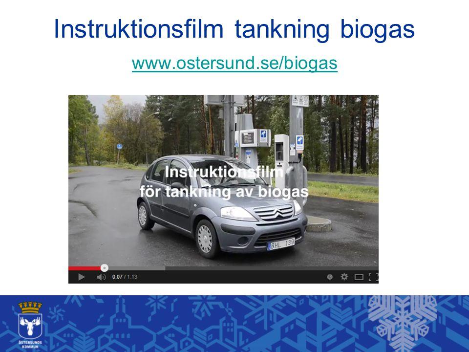 Instruktionsfilm tankning biogas www.ostersund.se/biogas www.ostersund.se/biogas