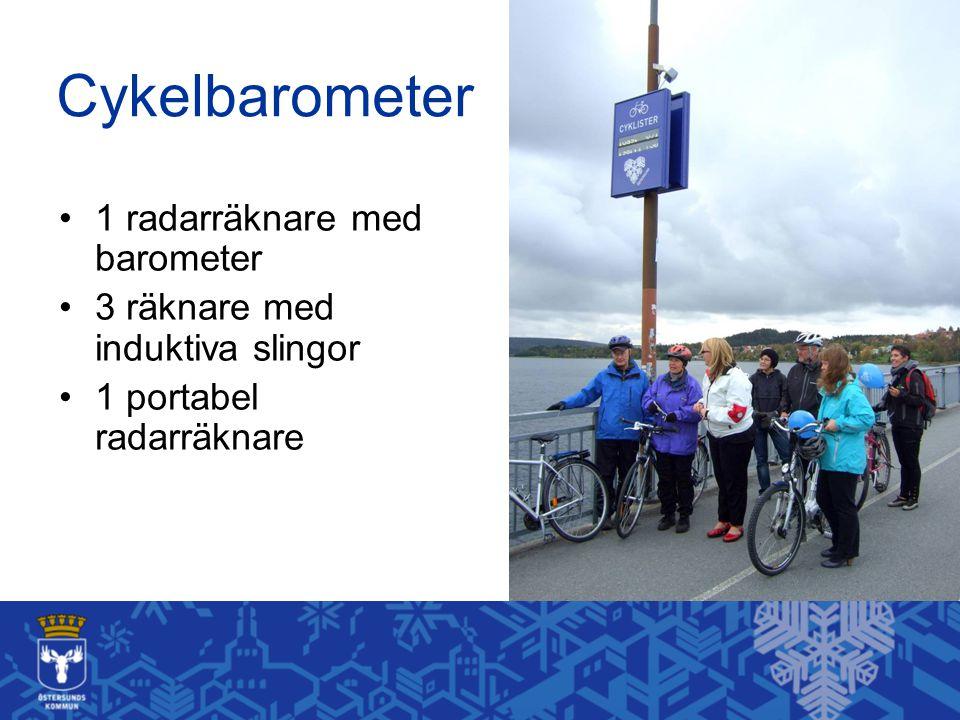 Cykelbarometer 1 radarräknare med barometer 3 räknare med induktiva slingor 1 portabel radarräknare