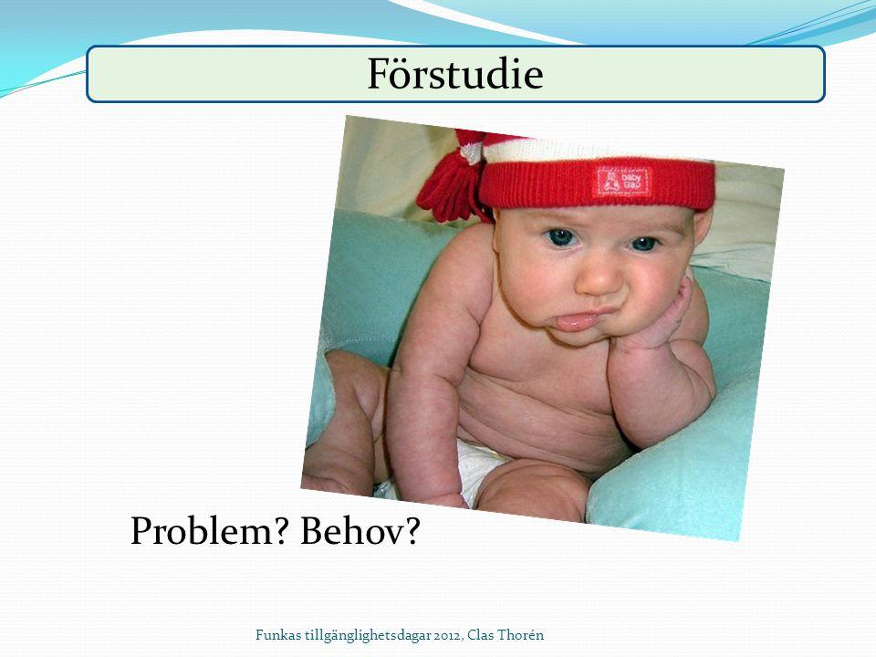 Förstudie Problem? Behov?