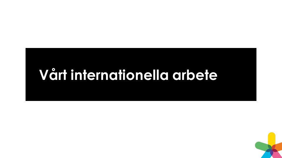 Vårt internationella arbete