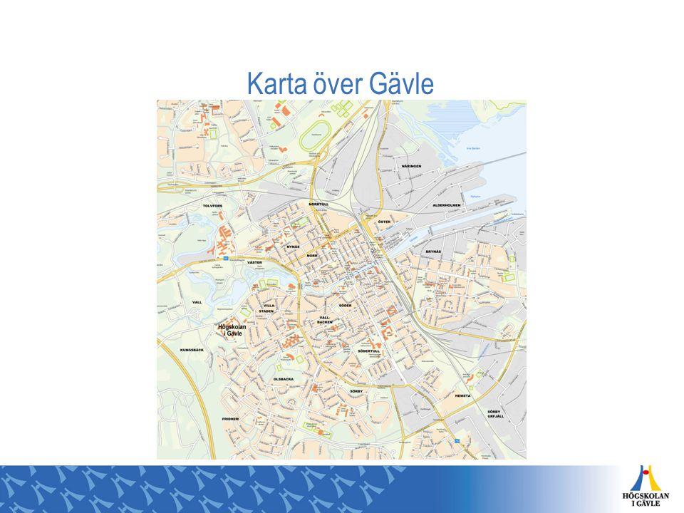 Karta över Gävle