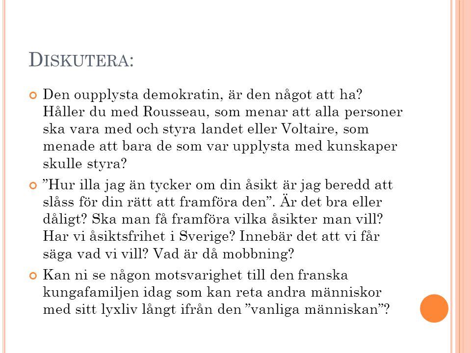 Y TTRANDEFRIHETEN OCH INSKRÄNKNINGAR Yttrandefriheten i Sverige har vissa regler som gör att man inte kan säga vad man vill ändå.
