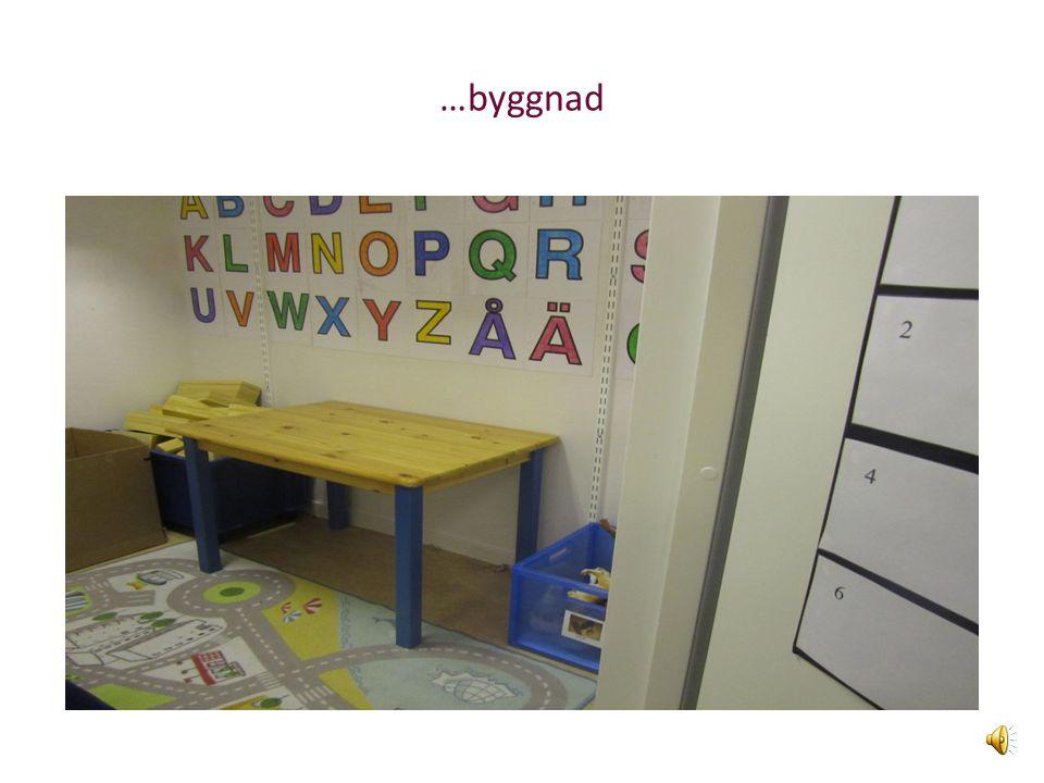 """Rummen är indelade i olika """"stationer"""" dvs. olika verksamhetshörnor t.ex. för lugna leker…"""