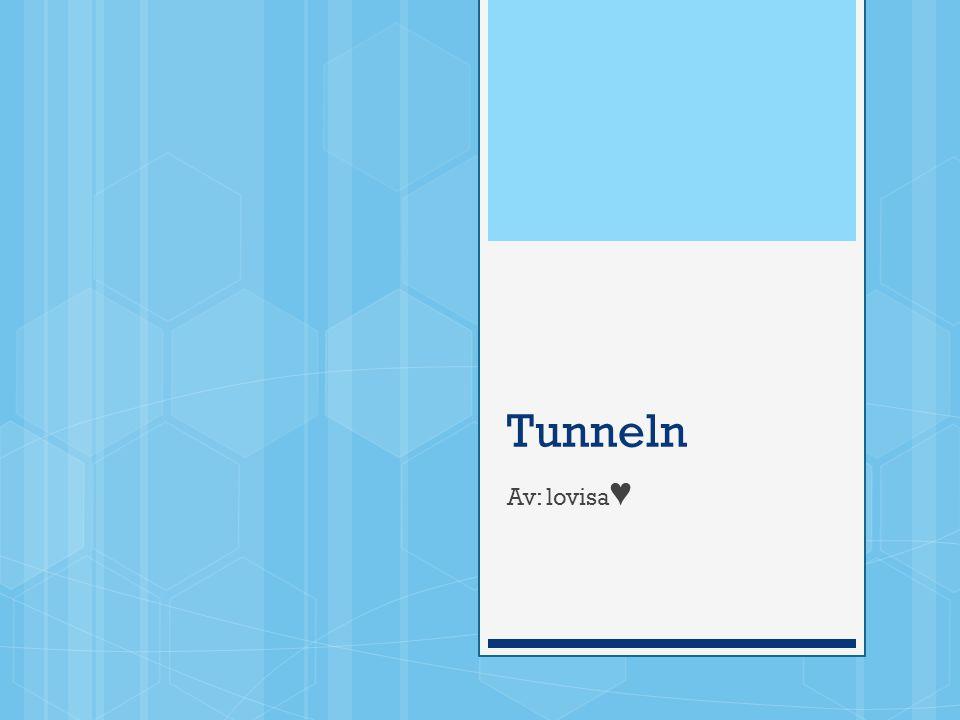 Tunneln Av: lovisa ♥