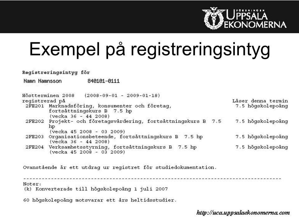 Exempel på registreringsintyg