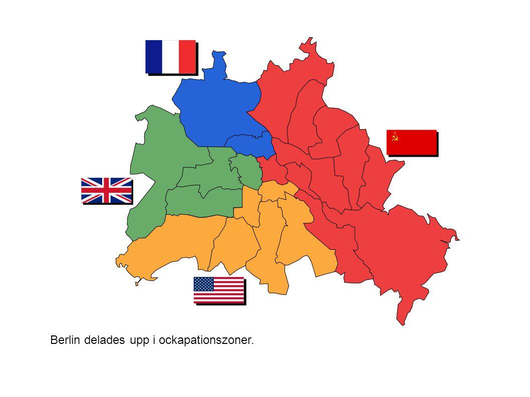 Berlin delades upp i ockapationszoner.