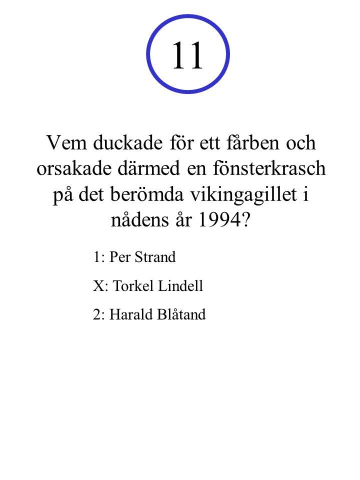 Vem duckade för ett fårben och orsakade därmed en fönsterkrasch på det berömda vikingagillet i nådens år 1994.