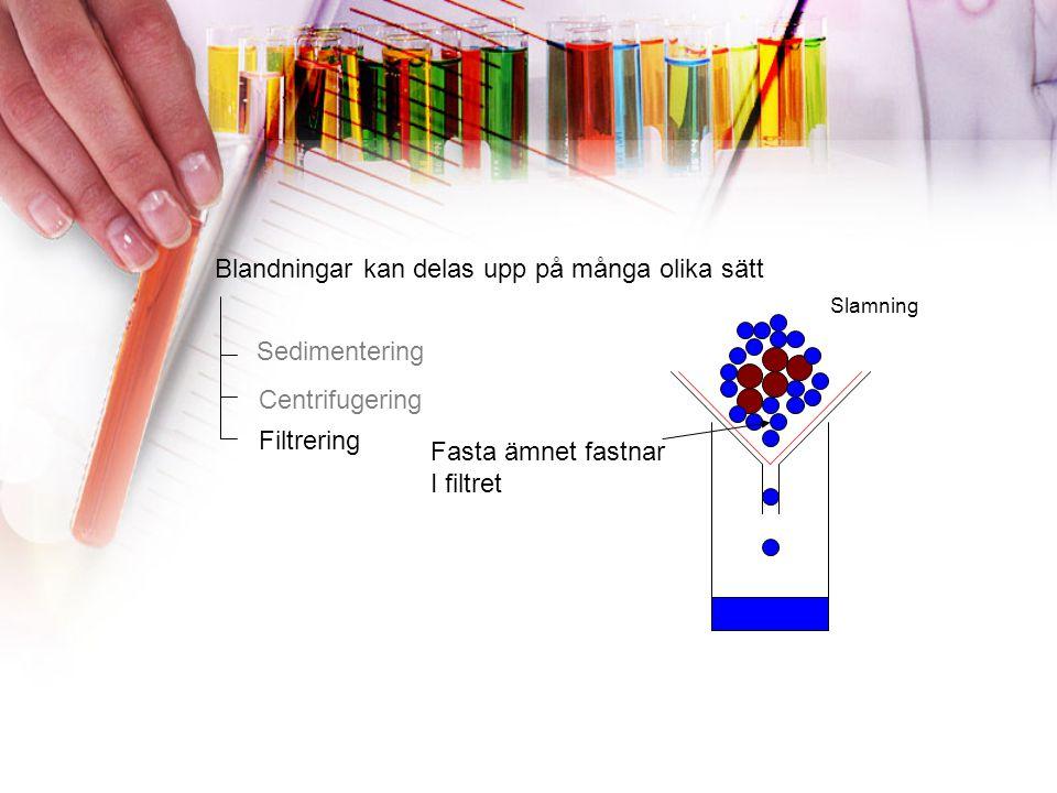 FRÅGA 16 Vad skiljer centrifugering från sedimentering? Vad har densitet med centrifugering att göra?