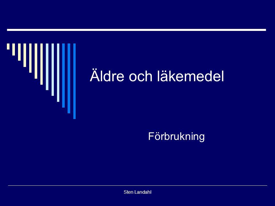 Sten Landahl Äldre och läkemedel Förbrukning
