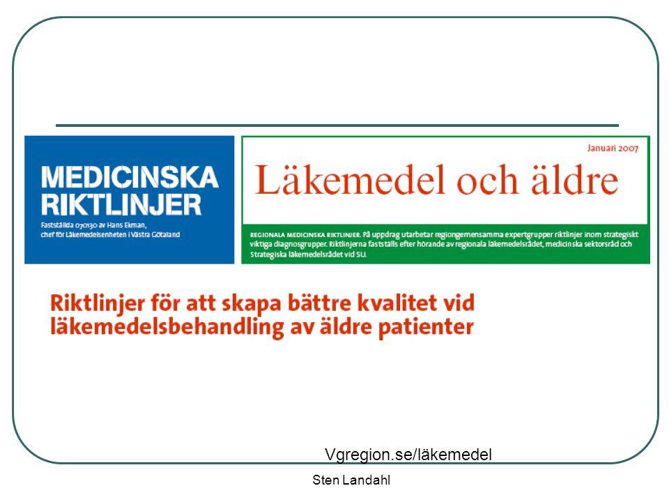 Sten Landahl Vgregion.se/läkemedel