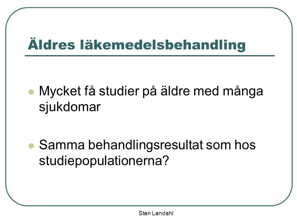 Sten Landahl Kassation av läkemedel 900 ton läkemedel per år lämnas tillbaka till apoteken i Sverige (2/3 lämnas inte tillbaka) = 1-2 miljarder kronor Källa: Enkätstudie, Läkartidningen Nr 10 2004, volym 101