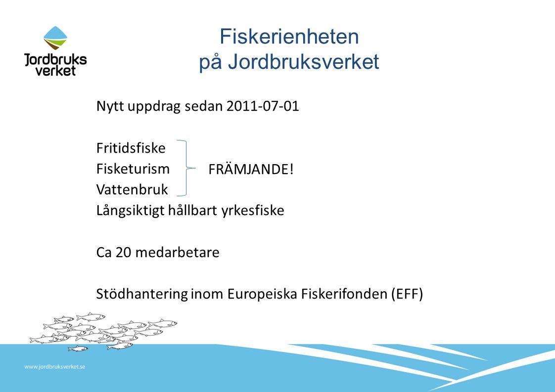 Vattenbruk Bakgrund till uppdraget: utredningen Det växande vattenbrukslandet , 2009.