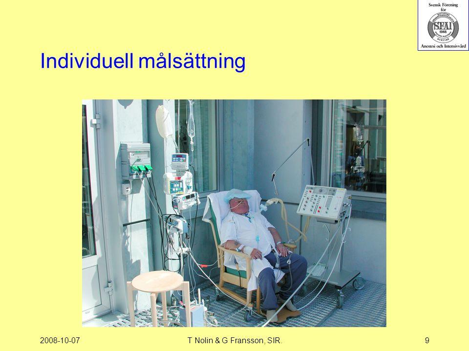 2008-10-07T Nolin & G Fransson, SIR.9 Individuell målsättning