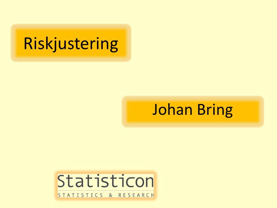 Riskjustering Johan Bring