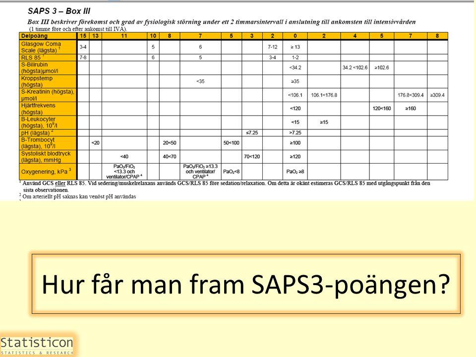 Hur får man fram SAPS3-poängen