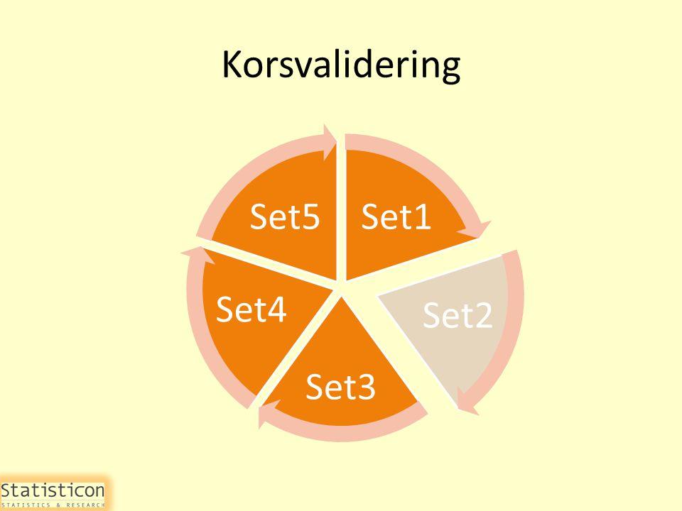 Korsvalidering Set1 Set2 Set3 Set4 Set5