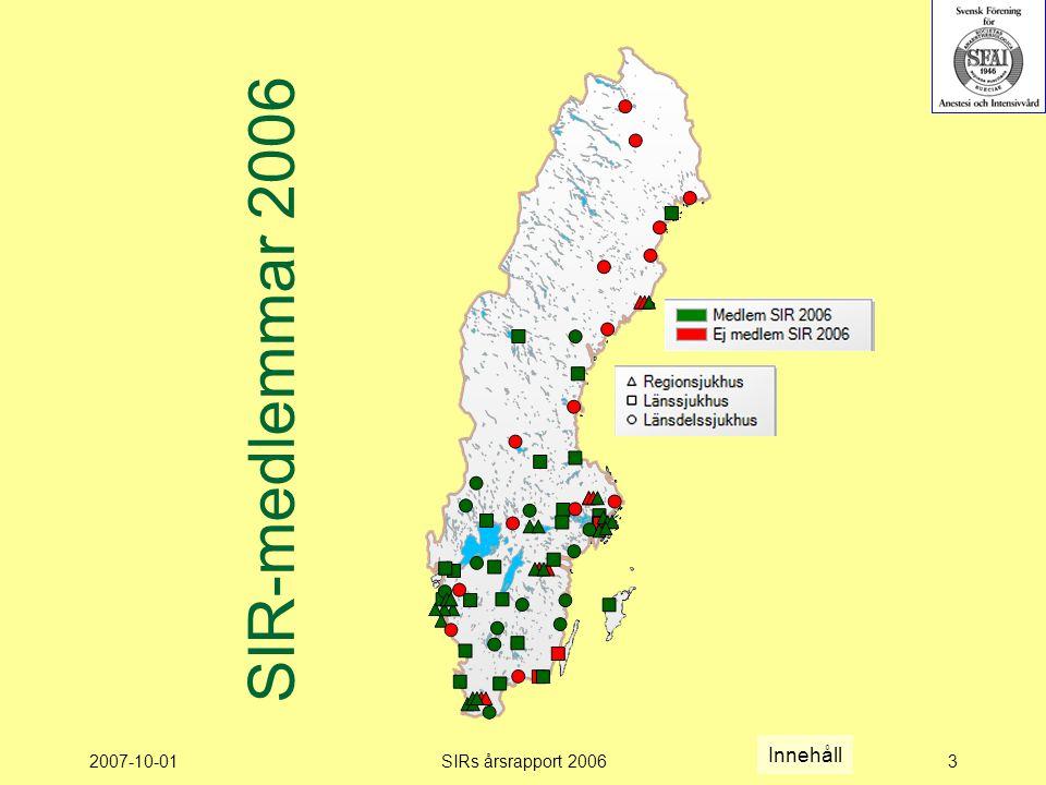 2007-10-01SIRs årsrapport 20063 SIR-medlemmar 2006 Innehåll