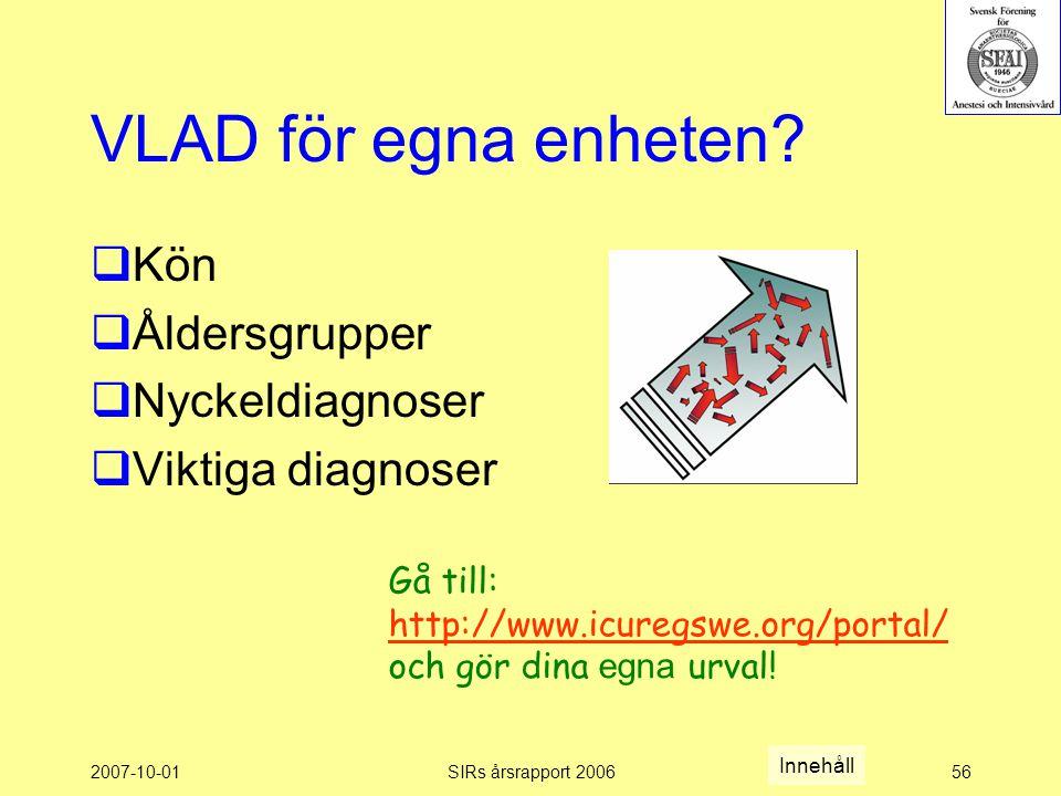 2007-10-01SIRs årsrapport 200656 VLAD för egna enheten.